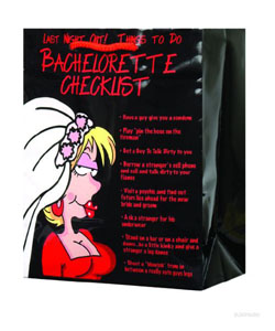 Last Night Out Bachelorette Checklist Gift Bag ~ EL-5992-77