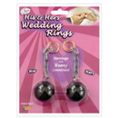 His and Hers Ball and Chain Wedding Rings ~ EL-7858-01