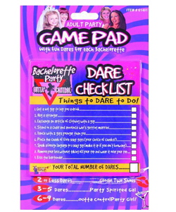 Bachelorette Party Outta Control Dare Checklist Game ~ EL-7860-54