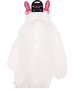 Non-Flash Willy Headband with Veil ~ EL-8609-03