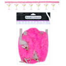 Martini Glass Printed Garland with Marabou ~ EL-8611-10