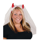 Bachelorette Devil Horns with Veil Headband ~ EL-8630-30