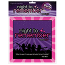 Night to Remember Napkins ~ EL-SG108-01