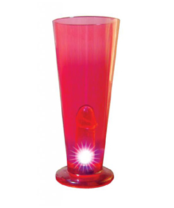 Light Up Peter Party Beer Glass, Red ~ HTP2188